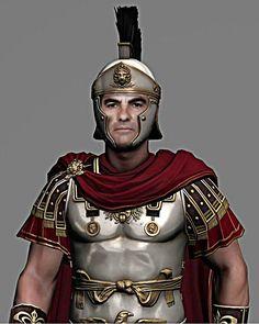 Roman Soldier Costume, Fantasy Figures, Fantasy Armor, Roman Armor, Gladiator Helmet, Roman Warriors, Roman Legion, Greek Warrior, Roman Soldiers