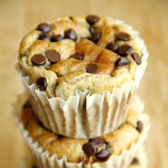 A quick and easy healthy banana muffin made without flour or oil!
