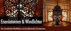 """In allerfeinster Handarbeit mühsam und sehr aufwendig angefertigt, verzaubern marokkanische Lampen aus Eisen durch die ausgeschlagenen Ornamente in den typischen ,,Slimania- Mustern"""" das Licht zu einem magischen Schattenspiel. Jede, auch als Orientalische Moschee - Laterne aus Metall oder arabische Moschee Lampe bekannte Laterne, ist ein kleines Kunstwerk und ein absolutes Unikat."""