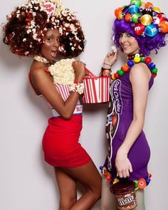 Picture result for candy girls - Karneval - Halloween costumes diy Costume Halloween, Candy Costumes, Purim Costumes, Carnival Costumes, Diy Halloween Costumes, Original Halloween Costumes, Mardi Gras Outfits, Mardi Gras Costumes, Candy Girls