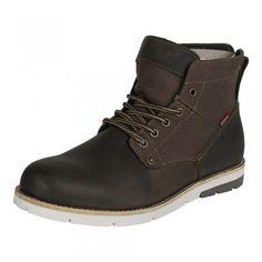 Levis Herren Leder Boots Stiefel Jax in Dark Brown (dunkel braun)