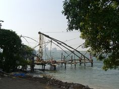 Chinese fishing nets at Cochin.