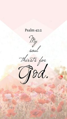 My soul thirsts for God | Psalm 42:2 I Need You Jesus. Thank you for filling my soul.