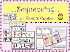 The sequencing center is a tool that will allow your students to practice the skill of putting the events of a story in order.  The materials included in this center are the following:  -	Anchor charts explaining what sequencing involves. -	45 sequencing cards to order 15 different stories. -	9 flashcards with transition words. -	4 worksheet models to practice the skill of putting the events of a story in order.