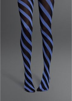 Cute, diagonal stripe tights.  They look like ties!