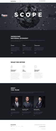 Scope is a beautiful Joomla template tailored towards brands who want to make a bold lasting impression on their visitors. The theme is a great choice for investment companies, consultant agencies ...