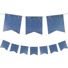 Denim Paper Pennant Banner/Case of 12 Tags: Bandanarama; Pennant Banners; Theme Party; party decorations;theme party pennant banners;pennant banners; https://www.ktsupply.com/products/32786324171/Denim-Paper-Pennant-BannerCase-of-12.html