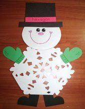 snowflake activities, snowflake crafts, snowflake bulletin boards, snip snip snow, paper snowflake patterns, snowman activities, snowman cra...
