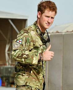 Prince Harry is shown the Apache flight-line by a member of his squadron  at Camp Bastion in Afghanistan
