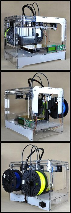 3D Vision Printer, Dual Extruder With 2 FREE PLA Spools, PLA & ABS Filament Compatible, Assembled Desktop Printing, All 3D Vision Printers come with dual extruders. You will also receive 2 FREE 1KG spools to help you with your first build.   The new upgraded extruder is smaller, lighter, and faster to build. And si..., #BISS, #3D Printers BTW...this is cool! .check this out: http://imobileappsys.com/3d/