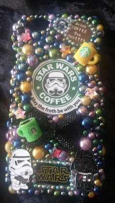Completed iPhone 5 Starbucks Star Wars Handmade Cell Phone Case Homemade by ExpressiveCases on Etsy Diy Phone Case, Cell Phone Cases, Iphone Cases, Starbucks Star, Samsung Galaxy Phones, All Iphones, Iphone Accessories, Iphone 6, Christmas Bulbs