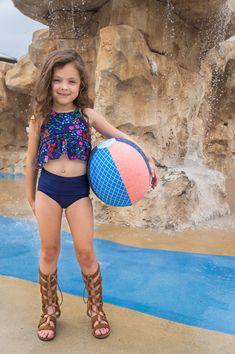 Santa Cruz Beach Ball — Little Lizard King Little Girl Bikini, Little Girl Swimsuits, Cute Little Girl Dresses, Beautiful Little Girls, Cute Girl Outfits, Cute Little Girls, Two Piece Swimsuits, Cute Kids, Toddler Swimsuits