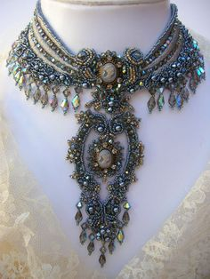 Goddess Sulis statment necklace by MoonGoddessJewellry on Etsy, $350.00