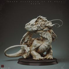 ArtStation - Speedsculpting in 26 days_dayH, Zhelong Xu Big Dragon, Dragon Art, Clay Dragon, Creature Feature, Creature Design, Fantasy Creatures, Mythical Creatures, Creature Drawings, Sculpture Clay