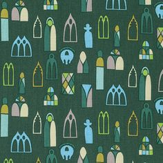 """PWAH098.FORES Anna Maria Horner Fibs & and Fables Escape Forest Windows Quilting 18"""" BTHY Rowan Westminster Half Yard 18"""" Quilt Fabric HY by KinshipQuilters on Etsy"""