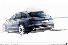 Audi A6 allroad quattro design drawing by the Audi Design Team.
