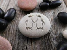NEW!!! Personalized Penguin Pebble, Penguin engraved stone, Penguin pendant, Penguin jewelry, Penguin love gift, Love promise gift #handmade #love #giftideas