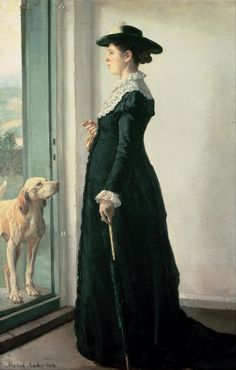 The Athenaeum - Portrait of My Wife (Michael Peter Ancher - ) 1884
