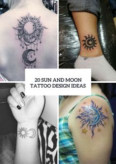 20 Sun And Moon Tattoo Ideas For Ladies | Beauty