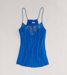 AE Embroidered Cami  Deep Waters or Ebony Grey