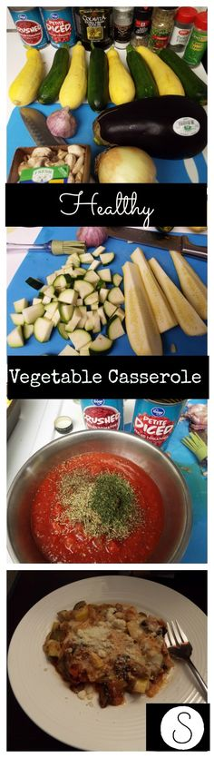 Healthy Vegetable Casserole, a delicious way to eat your veggies! #weightlossrecipes