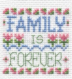 "Bucilla ® Counted Cross Stitch - Beginner Stitchery - Mini - Family    Size: 2"" x 2"""