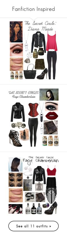 """""""Fanfiction Inspired"""" by jaimie-janel ❤ liked on Polyvore featuring Paige Denim, ALDO, Bridge Jewelry, LE3NO, WearAll, Pamela Love, Michael Kors, Cirque Colors, Witchery and Daisy Corsets"""