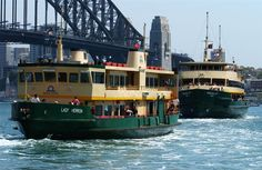 Sydney Harbour Ferries ..... great for getting around