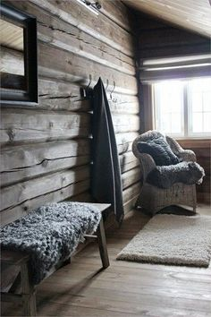home renovation before and after Chalet Interior, Interior Exterior, Interior Design, Scandinavian Cabin, Modern Log Cabins, Luxury Modern Homes, Lodge Style, Log Cabin Homes, Cabin Interiors