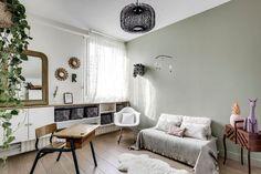 Contemporary living room, Farrow & Ball. http://www.facebook.com/kenisa.home