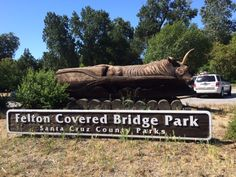 The Felton Covered Bridge park is a California State Historical Landmark and community park with playground, picnic tables and a sand volleyball court.