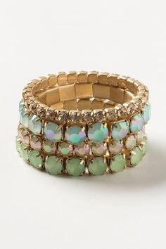 Anthropologie Iced Dew Bracelet Set