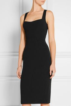 Black stretch-crepe Concealed hook and two-way zip fastening at back 49% viscose, 48% acetate, 3% elastane; lining: 93% silk, 7% elastane Dry clean Made in Italy