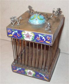 Japanese Cloisonne Cricket Cage - Found on Ruby Lane $425.00