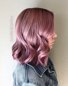 Dusty Violet Pink Hair @MirellaManelli on Instagram