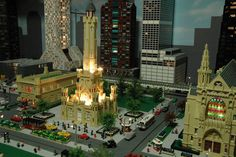 Lego Chicago Water Tower.