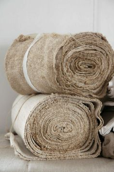Rolls of pure potential, antique textiles Fibre Textile, Textile Fabrics, Lino Natural, Natural Linen, Natural Texture, Chenille, Linens And Lace, Linen Fabric, Twine