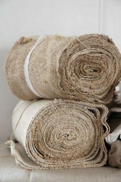Rolls of pure potential, antique textiles Fibre Textile, Textile Fabrics, Chenille, Linens And Lace, Natural Linen, Linen Fabric, Shabby, Neutral, Weaving
