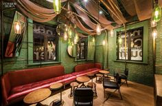 Our roundup of simply amazing restaurant spaces from  Interior Design's  most recently featured projects—from showstopping ceiling installs in Barcelona to leather-wrapped...