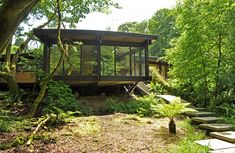 Woodland eco house on a budget. I love this house and its setting. Could very happily live in it :)