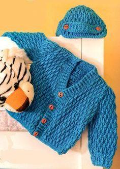 Crochet Baby : casaquinho e touca de crochet para bebê!