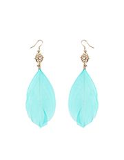 Katie Jewel and Feather Earrings