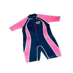 Tesco direct: Jakabel Junior Girls Front Zip Shorty Wetsuit Navy/Pink