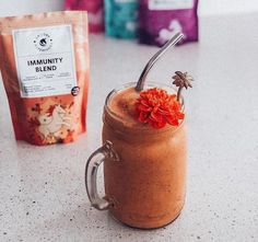 This recipe is packed with vitamin A and antioxidants to support digestion and gut health. Try this quick and easy smoothie that will keep you wanting more! Recipe: 2 ripe frozen bananas 1 tsp of agave 1 tsp flaxseeds 1 tsp hemp hearts 2 tsp of Unicorn Superfoods Immunity Blend Splash of almond milk or more if required Rainbow Smoothies, Easy Smoothies, Hemp Hearts, Frozen Banana, Yummy Eats, Smoothie Bowl, Gut Health, Almond Milk, Superfoods
