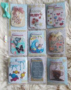 Pocket Pal, Pocket Cards, Mason Jar Cards, Mason Jars, Atc Cards, Journal Cards, Scrapbook Supplies, Scrapbook Paper, Jar Art