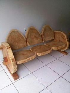 Look at this beautiful wood log bench or you may use it as a lounger. The beauty of the grains in a wooden log makes it attractive. However, it might not be possible to sit for long on this wooden log Rustic Log Furniture, Wood Furniture, Furniture Ideas, Rustic Bench, Cheap Furniture, Western Furniture, Outdoor Furniture, Furniture Stores, Modern Furniture