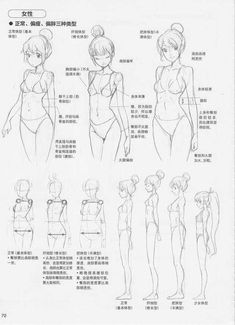How to Draw Manga - Basic Attractive Character Designs「ref tuto manga body」的圖片搜尋結果Anime girl anatomy for quarter view torso and side view full body, in Japanese but useful as reference.Shoulder to hip ratioImage shared by Miki Light Body Drawing, Anatomy Drawing, Manga Drawing, How To Draw Anatomy, Drawing Body Proportions, Drawing Anime Bodies, Drawing Hands, Art Reference Poses, Anatomy Reference