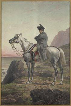 Olivier Pichat | Portrait de Napoléon Ier à cheval à Sainte-Hélène