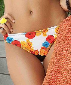 Love this Black & Orange Garden of Eden Slim Bikini Bottoms on #zulily! #zulilyfinds