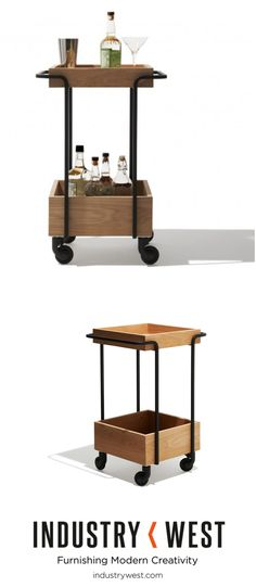 The Kompagnon is characterized by the essential and clean lines of our Universo Positivo collection with a hint of quirky charm. Ideal for mobile storage, the moving trolley features four casters and two solid oak trays, this piece is perfect for a kitchen companion or a home for a succulent garden. Of course, you could also fill with a selection of fine spirits for the five o'clock hour like ours is!